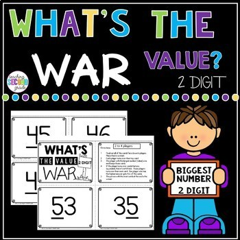 What's the Value 2 Digit War Math Game