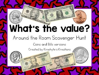 What's the Value? - Coins and Bills Scavenger Hunt