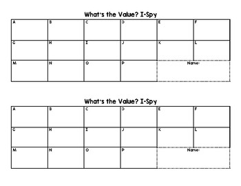 What's the Value iSpy (Place Value)