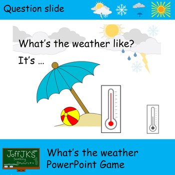 What's the Weather PowerPoint Game