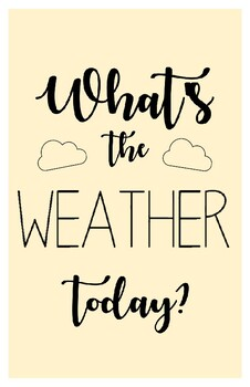 What's the Weather Today? (English)