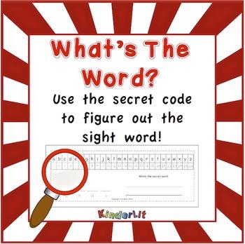 Alphabet Secret Code Worksheets FREEBIE