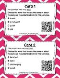 What's the Word? QR Code Task Cards Set 3 IREAD Practice