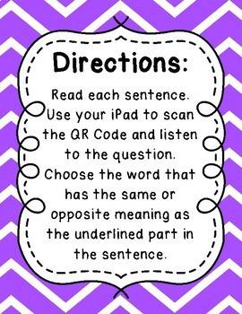 What's the Word? QR Code Task Cards Sets 1 to 3 IREAD Practice BUNDLE
