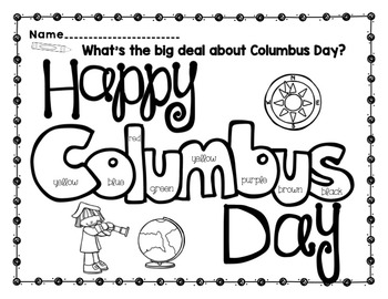 What's the big deal about Columbus Day? {Prep free printables with brag tags}