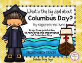 What's the big deal about Columbus Day? {Prep free printab
