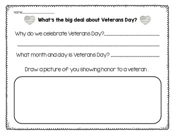 What's the big deal about Veterans Day? {Prep Free Printables}