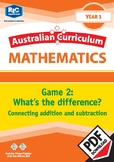 What's the difference? – Connecting addition and subtraction – Year 1