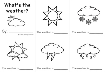 What's the weather? A Science Sight Word Book Printable - FREEBIE
