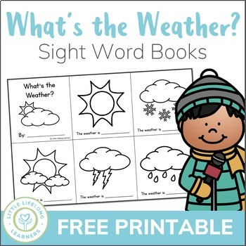 graphic regarding Printable Sight Word Books known as Whats the weather conditions? A Science Sight Term Ebook Printable - Absolutely free