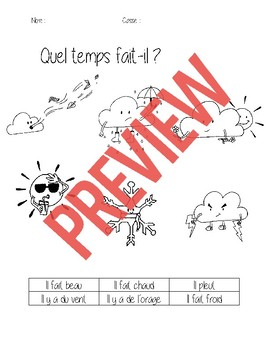 What's the weather like? Quel temps fait-il ?