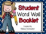 What's the word? Student Word Wall Booklet (A-Z)