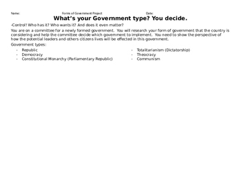 What's your Government Type?  You decide.