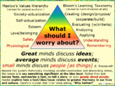 What should I write about? Maslow☺Bloom☺Eleanor Roosevelt'