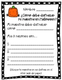 What should my teacher be for Halloween? - SPANISH