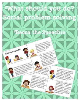 What should you do? Pragmatics and social problem solving flashcards