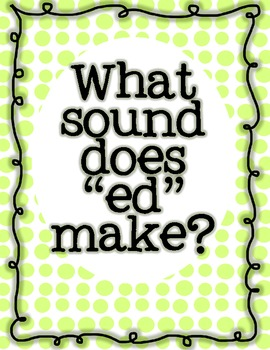 "What sound does ""ed"" make? Past Tense Verb Word Sort"