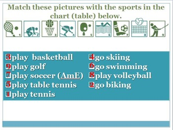 What sports do you like?
