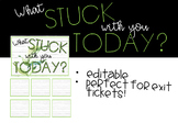 What stuck with you today- Farmhouse Theme