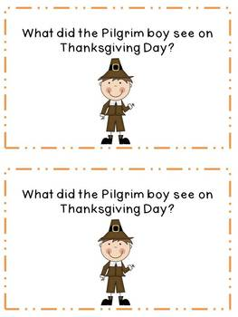 What the Pilgrim Boy Saw on Thanksgiving reader & activities