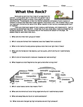 What the Rock? - Worksheet