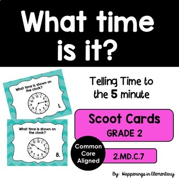 Telling Time to 5 Minutes 2.MD.C.7
