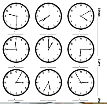 What time is it? A variety of clocks to practice telling time