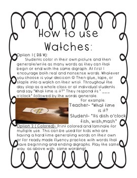What time is it? {Digraph Watches}