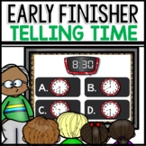 Telling Time to the Hour and Half Hour | Early finisher RESOURCE