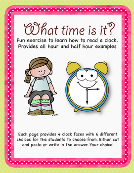 What time is it? (Hour and Half-Hour Practice)