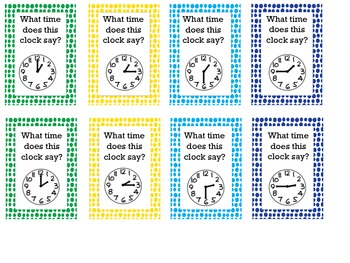 What time is it?  Math Board Game