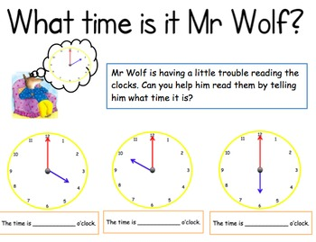What time is it Mr Wolf? (hour) by Megan May | Teachers ...