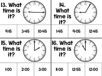 What time is it? - Telling Time to 5 Minutes Game