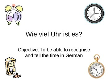 What time is it? / Telling the time