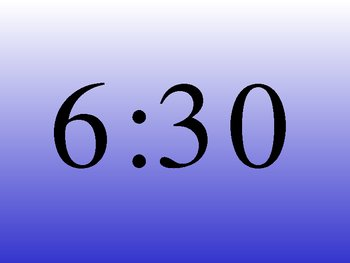 What time is it? Telling time to the hour and half hour