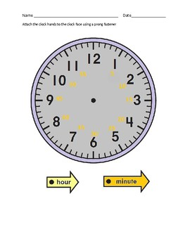 What time is it Worksheet with Cut Out 24 Hour Clock