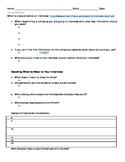 What to Bring to an Interview - Worksheet
