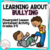 What to Do About Bullying Social Skill Powerpoint Lesson Assessment Activity