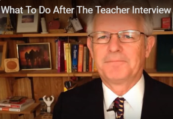 What to Do After the Teaching Interview