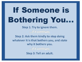What to Do When Someone is Bothering You Poster