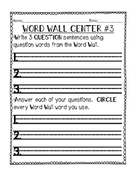 What to Do With My Word Wall?