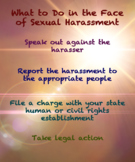 What to Do in the Face of Sexual Harassment (Poster)