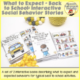 What to Expect - Back to School: Interactive Social Behavior Stories