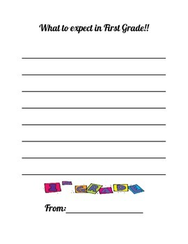 What to Expect in First Grade!