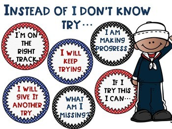 """What to Say Instead of """"I Don't Know"""" Posters with a Nautical Theme"""