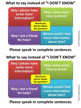 """What to Say Instead of """"I Don't Know"""" poster- double"""
