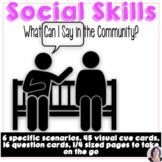 Social Communication Life Skills Problem Solving Scenarios