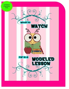 What to Watch for in a Modeled Lesson