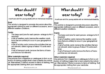 What to Wear Today? A Life Skills Resource