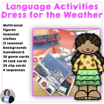 Language of Life Skills What to Wear for the Weather Activity and Game